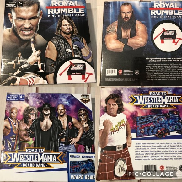 Fast Pace Action Packed Boardgame WWE Road to Wrestlemania Board Game